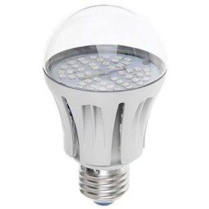 Фитолампа светодиодная для растений А60 E27 10вт Fito (Uniel PLP01WH-SPFRА60-6-220-E27-CL UL-00001820)