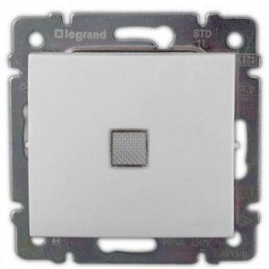 Одноклавишный выключатель с подсветкой, белый (Legrand Valena-250V-10A 774410)