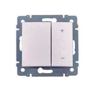 Механический кнопочный выключатель-светорегулятор до 600 Вт, белый (Legrand Valena-600-220 770074)