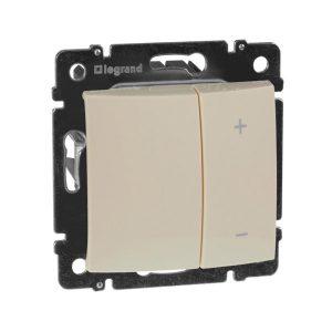 Механический кнопочный выключатель-светорегулятор до 600 Вт, слоновая кость (Legrand Valena-600-220 774174)