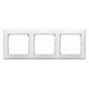 Трехместная горизонтальная рамка Legrand, белая (Legrand Valena 774453)