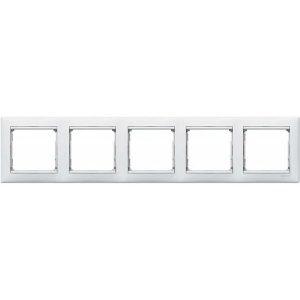 Пятиместная горизонтальная рамка Legrand, белая (Legrand Valena 774455)