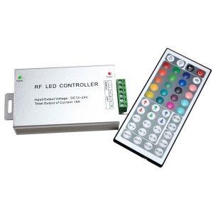 Контроллер для светодиодной ленты RGB радио 44 кнопки (GENERAL GDC-RGB-216-R-IP20-12 511701)