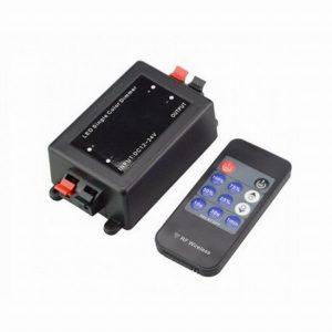 Диммер для светодиодной ленты 96Вт 12В 8А с радио-пультом ДУ (General GDD-96-R-IP20-12-8A 511711)