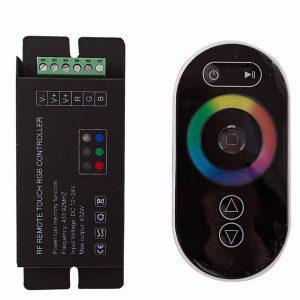 RGB-контроллер для светодиодных лент сенсорный с радио-пультом ДУ (Eleganz 12/24V 180/360W 18А)