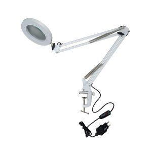Светодиодный настольный светильник 8вт с линзой 5х (UNIEL TLD-568-8-Dimmer-X5 UL-00007386)