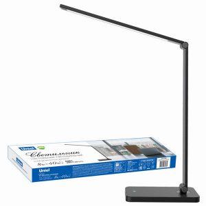 Светодиодный настольный светильник 8W сенсорный черный (UNIEL TLD-571-8W/4500K-IP20-BLACK UL-00007439)